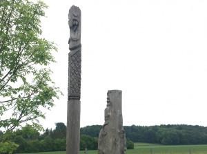 Skulpturen an der Ampermoos Radtour