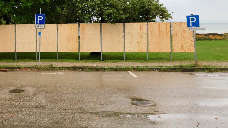 Wand für Wahlplakate für bayerische Landtagswahl