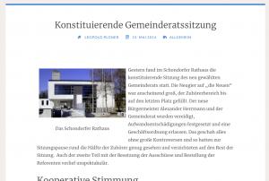 Erster Beitrag schondorf Blog