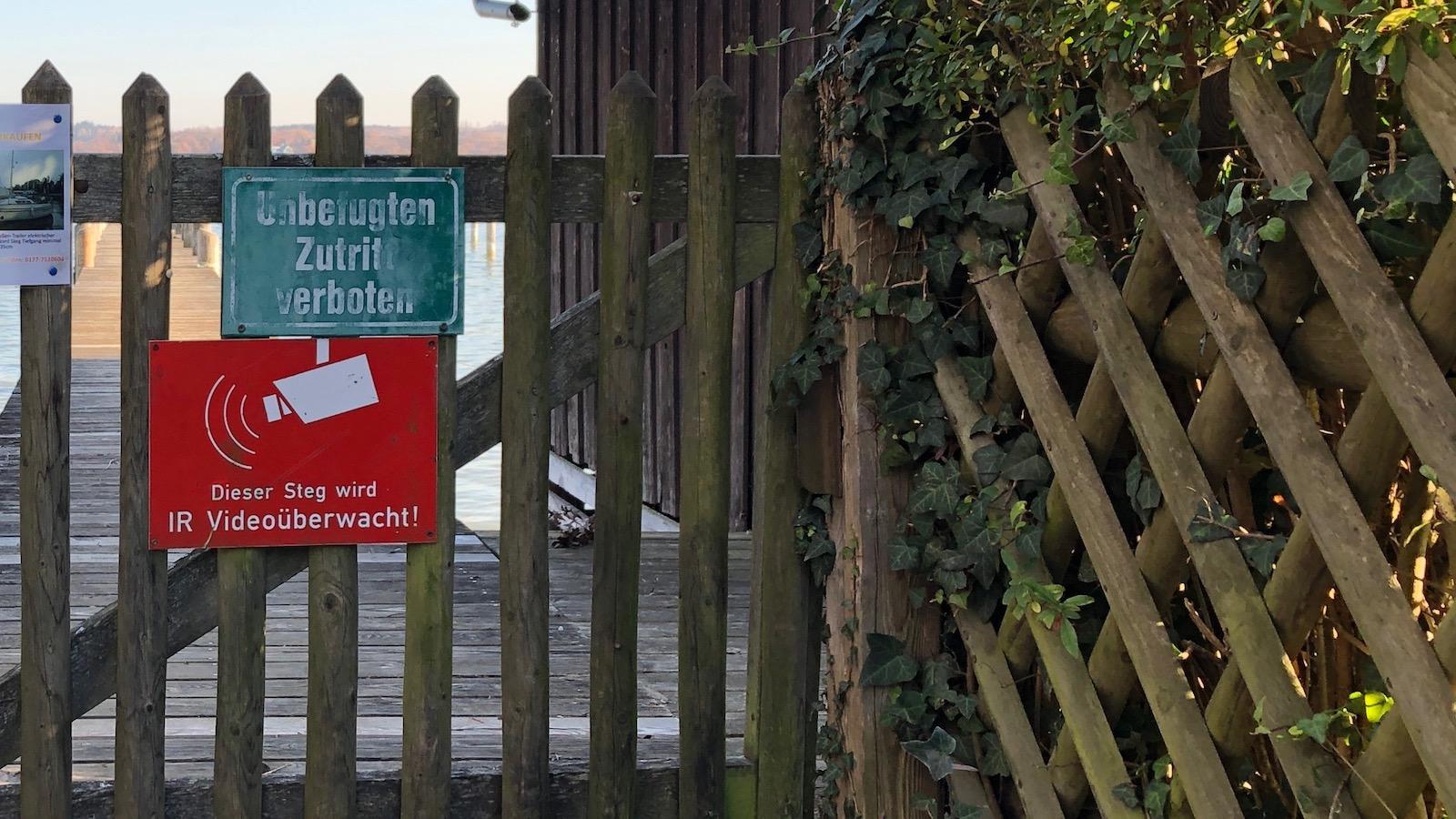 Betretungsverbote am Ammersee