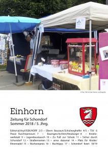 Schondorfer Gemeindezeitung Einhorn