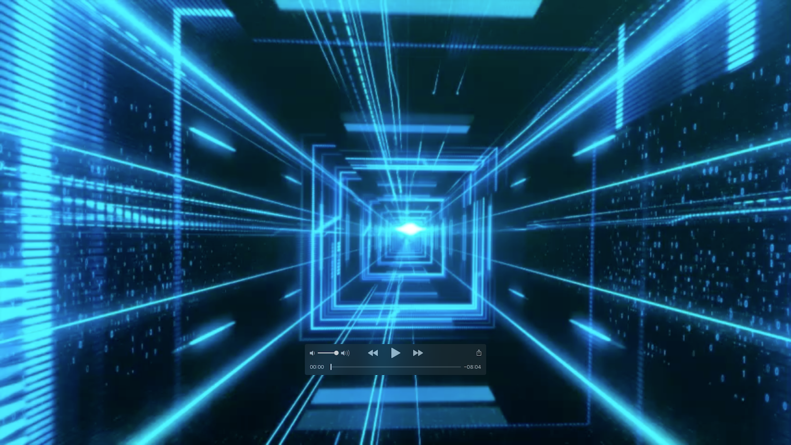 Cyberspace Lichttunnel
