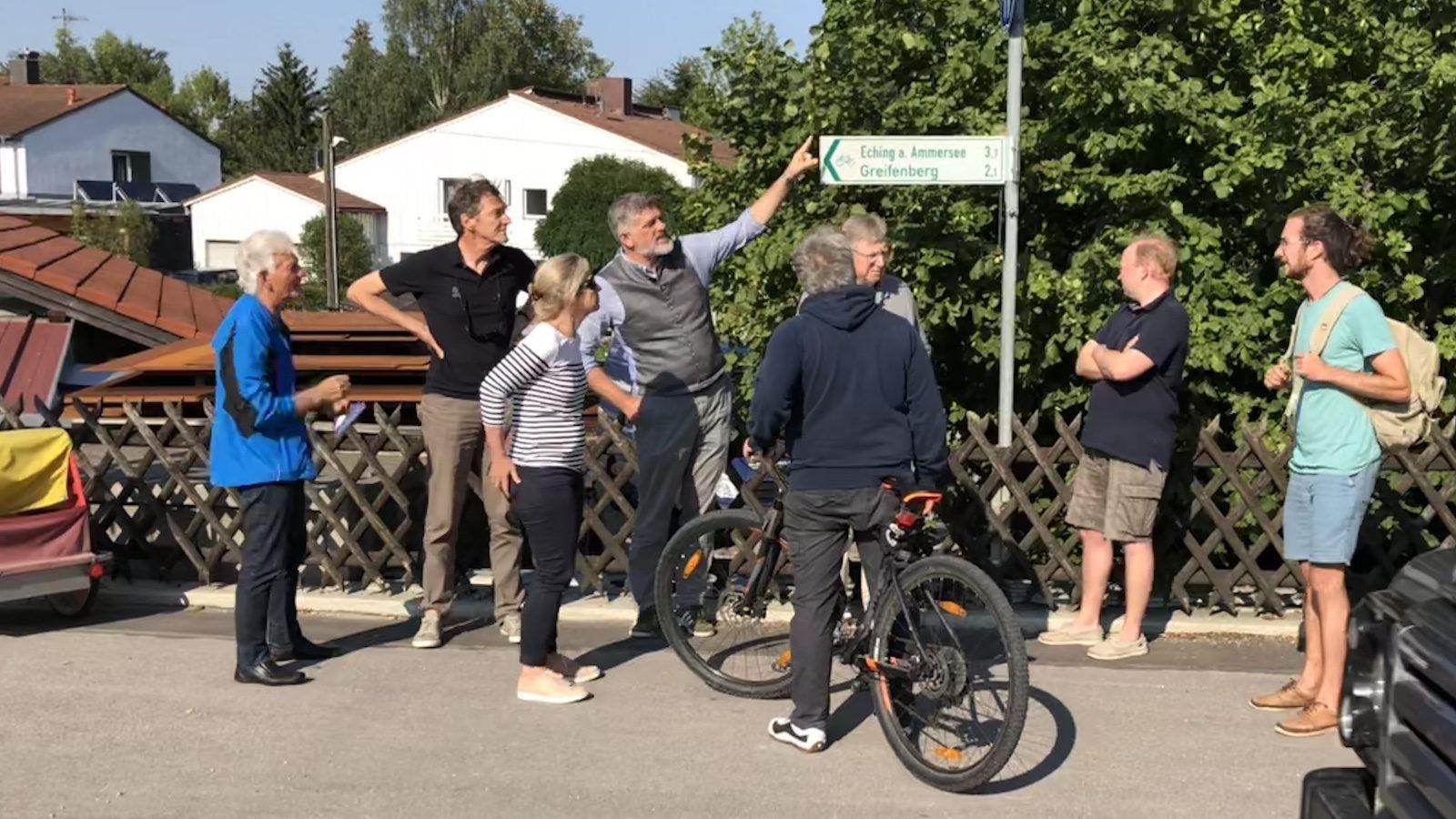 Besichtigungsfahrt der Initiative Sicher duirch Schondorf