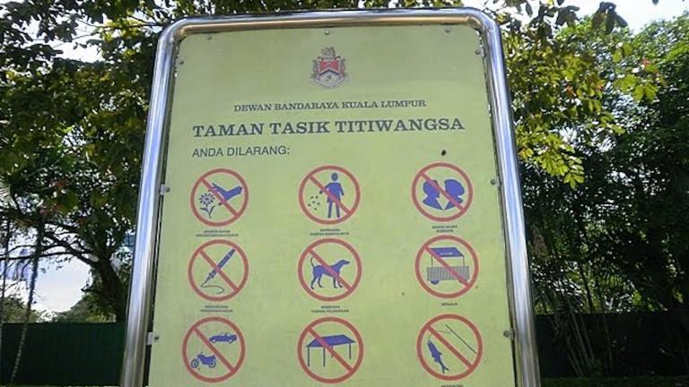 Verbote in der Seeanlage Schondorf