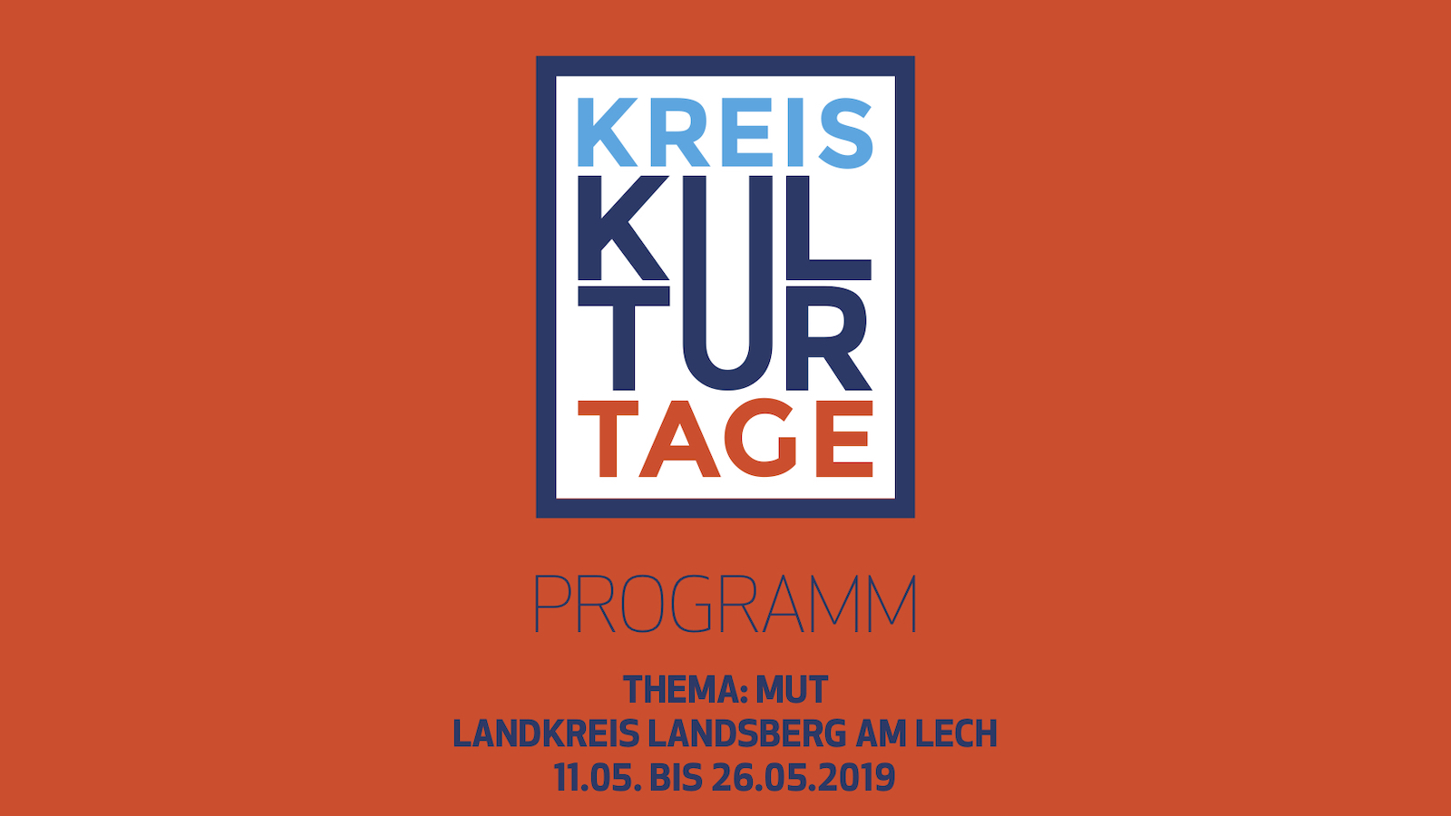 Kreiskulturtage 2019 Landsberg am Lech