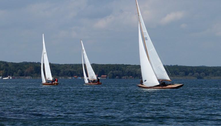 Holzbootregatta auf dem Ammersee