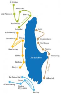 Routenplan Ammerseerenade Kapellentag 2019