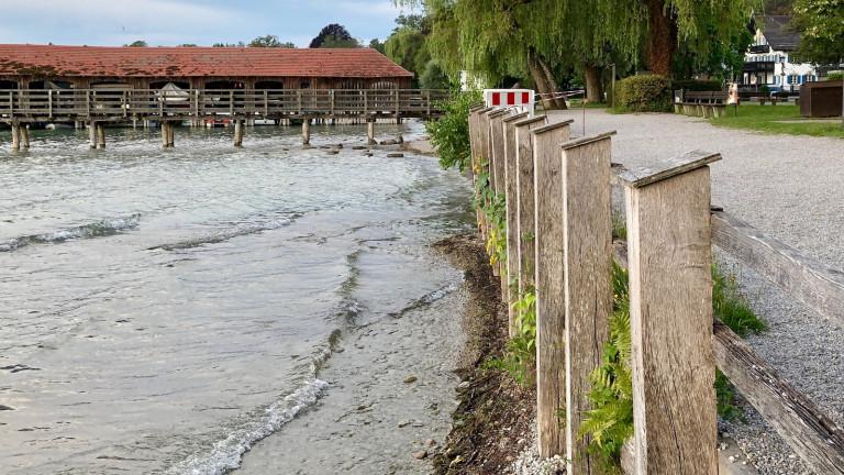 Schondorfer Seeanlage mit Bootshaus