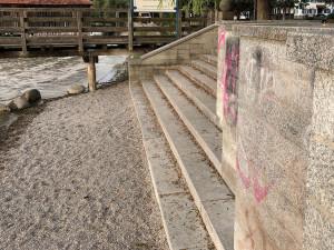 Ufertreppe in der Schondorfer Seeanlage