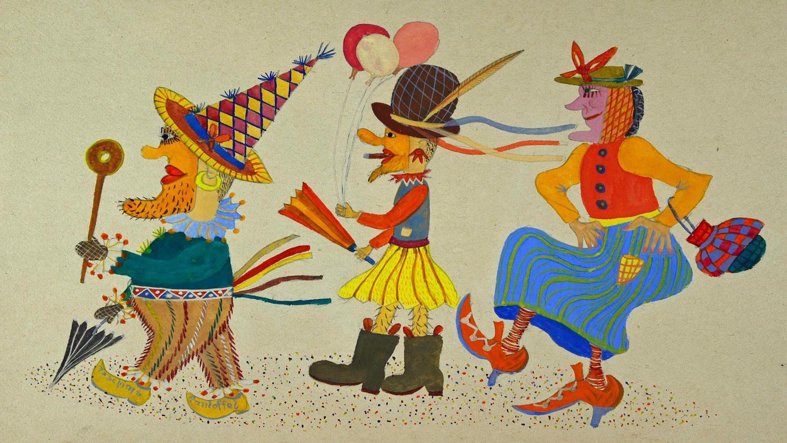 Zeichnung aus dem Gestalt Archiv Schondorf