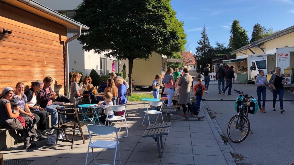 Marktcafe auf dem Schondorfer Freitagsmarkt