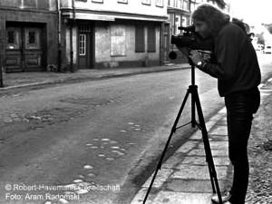 Siegbert Schefke beim filmen