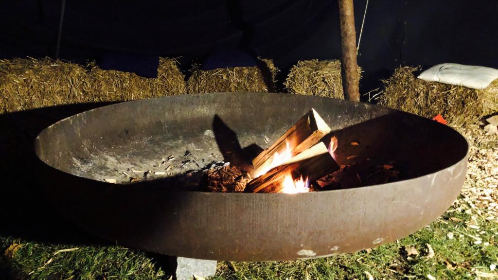Feuerschale auf dem Schondorfer Christkindlmarkt