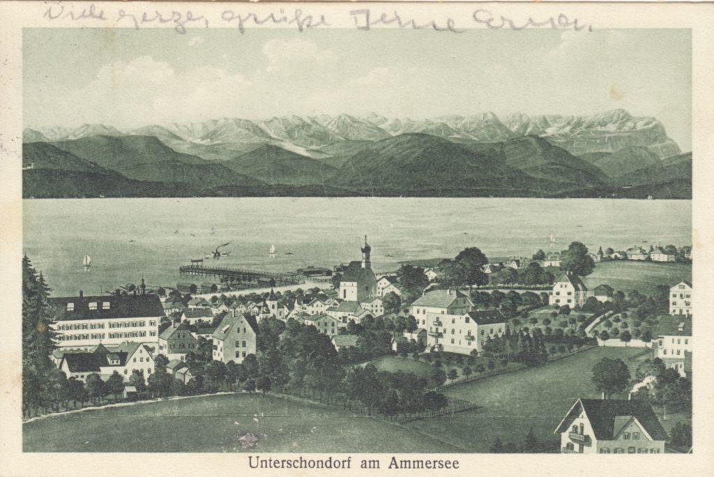 Postkarte von Schondorf, 1934