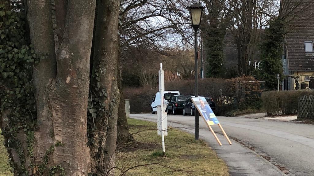 Wahlplakat am Kirchberg