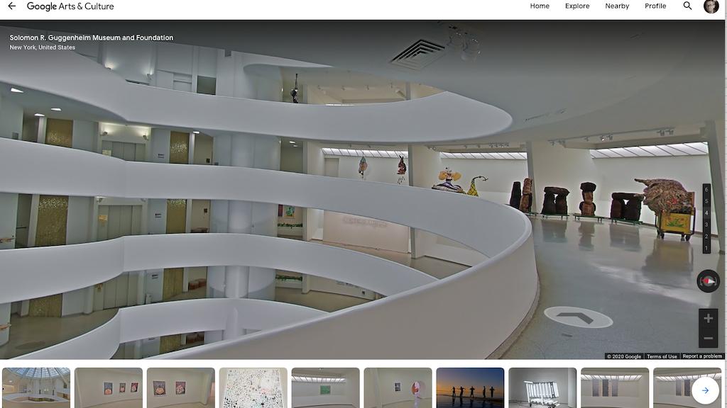 Virtueller Rundgang durch das Guggenheim NYC