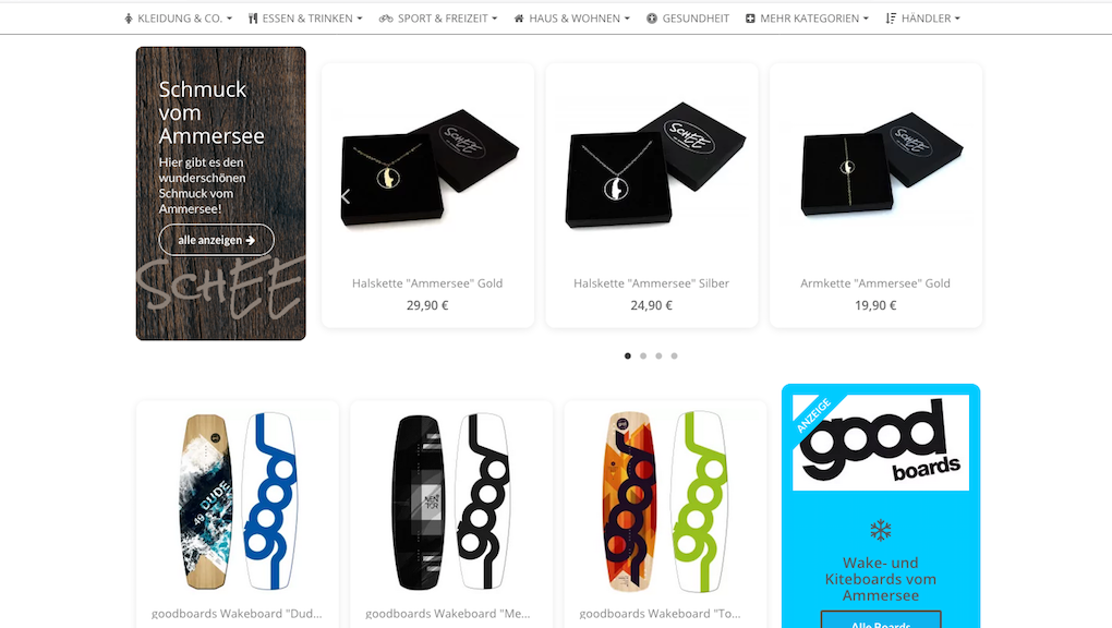 Ammersee Shopping Website
