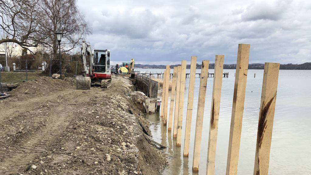 Renovierung der Schondorfer Uferbefestigung