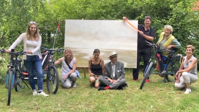 Schondorfer Stadtradler bei Elke Jordan in Grafrath