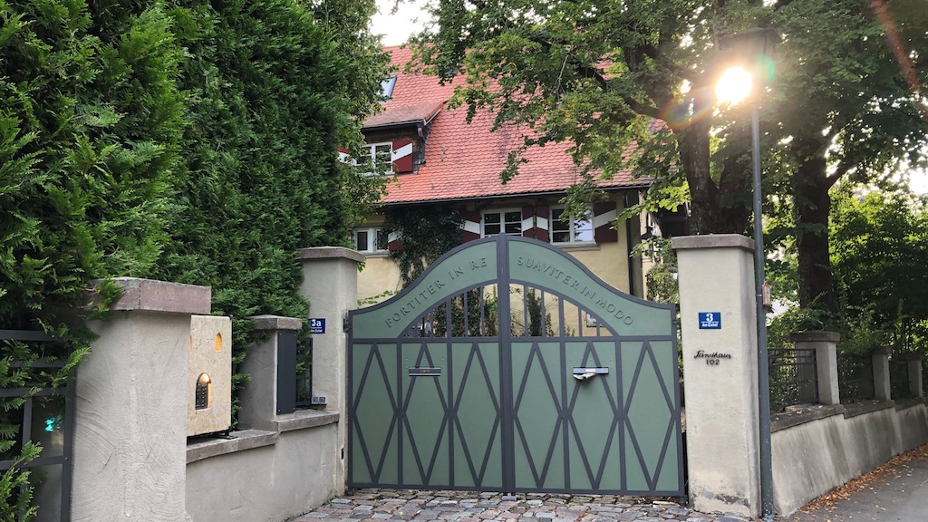 Das ehemalige Wohnhaus von Toni Ruhr am Ammersee