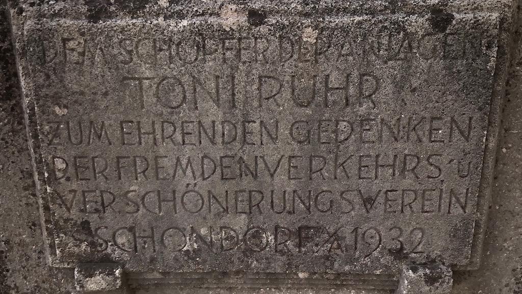 Gedenktafel für Toni Ruhr in schondorf am Ammersee