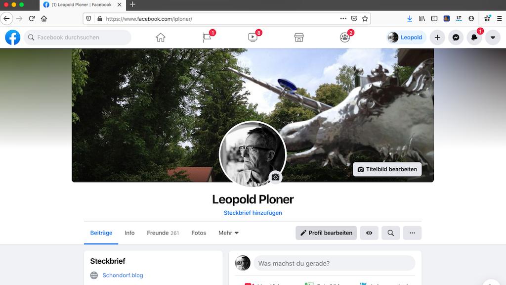Leopold Ploner auf Facebook