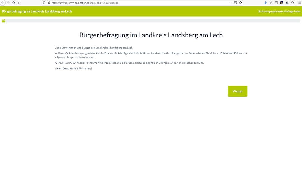 MVV Umfrage in Landsberg