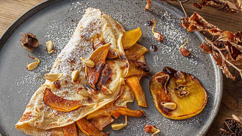 Pfannkuchen mit Buchensprossen im Kochlust Blog