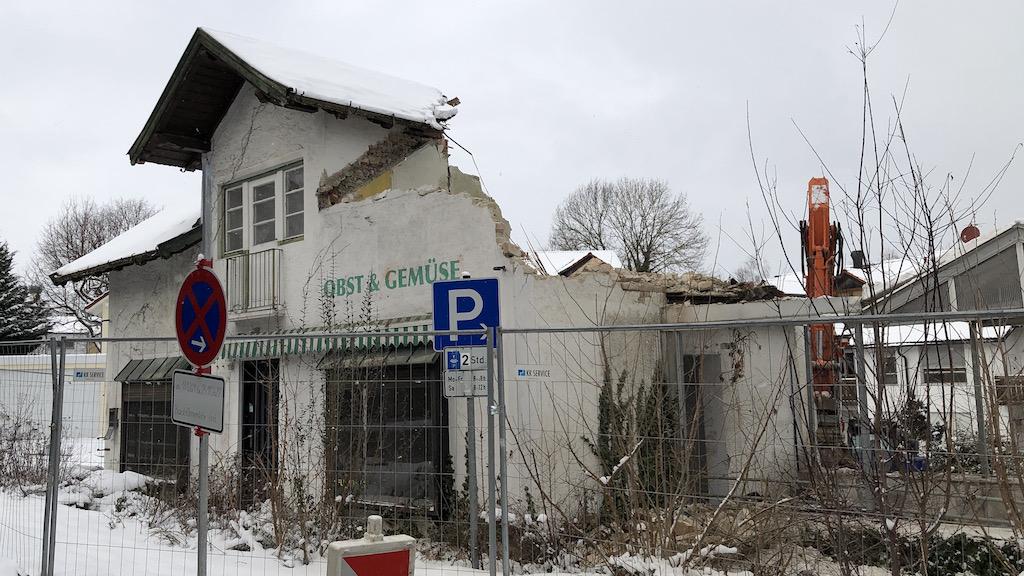 Abriss der Gärtnerei Dumbsky in Schondorf am Ammersee