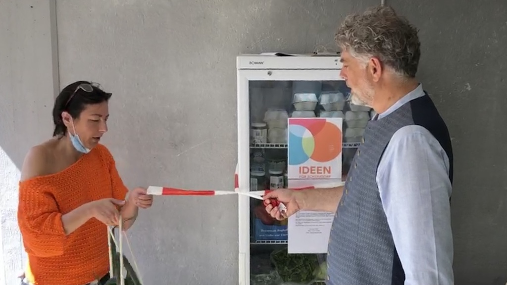 Erfolgsmodell Bügerbudget: Schondorfer Kühlschrank für Lebensmittelspenden
