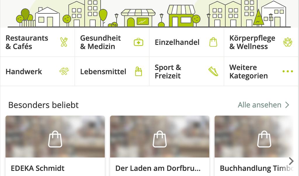 Lokales Gewerbe im Nachbarschaftsnetzwerk Nebenan.de