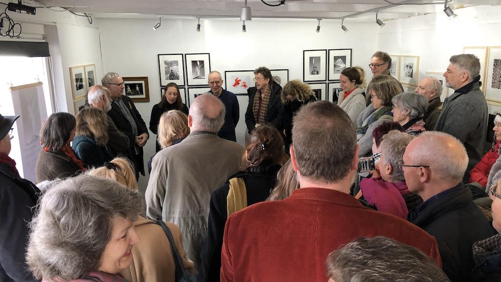 Ausstellungseröffnung im raumB1 von Harry Sternberg