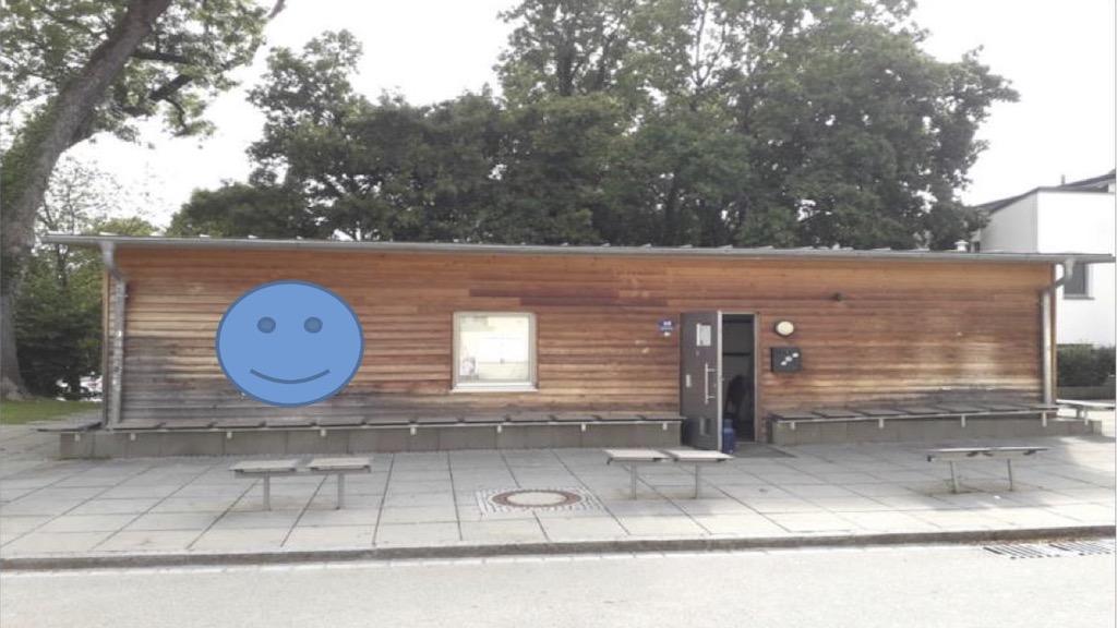 Start der Suchfahrt durch Schondorf am Jugendzentrum