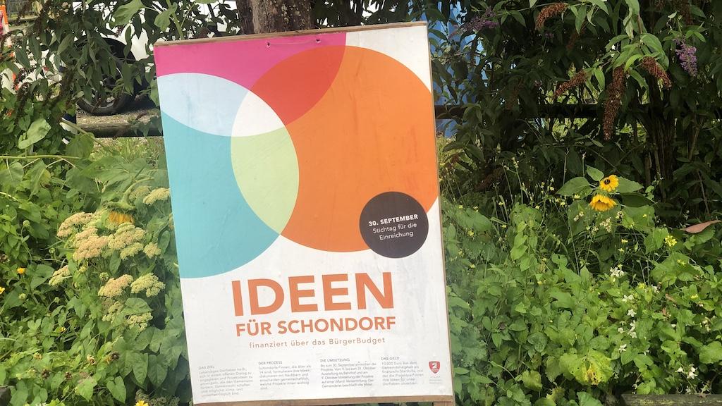 Plakat Schondorfer Bürgerbudget 2022