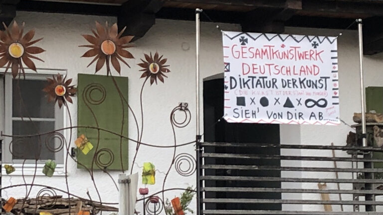 Jonathan Meese in Schondorf am Ammersee